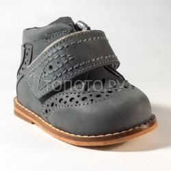 Ботинки на первый шаг Тотто 09 серые