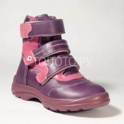 Ботинки зимние Тотто 210 сиреневые