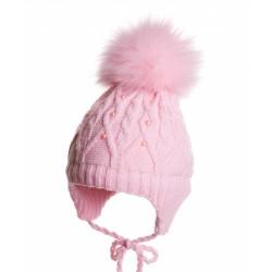 Шапка зимняя Чудо-Кроха CZ-42 розовая