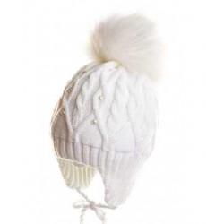 Шапка зимнняя Чудо-Кроха CZ-42 белая