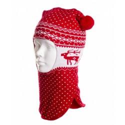 Шлем зимний Чудо-Кроха Cb-19 красный