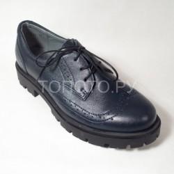 Полуботинки школьные Шаговита 61129 синие