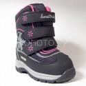 Ботинки зимние мембранные Сурсил Орто черные с розовым