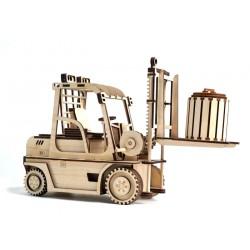 3D Конструктор деревянный Погрузчик с механизмом LEMMO