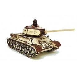 3D Конструктор деревянный Танк Т-34-85 LEMMO