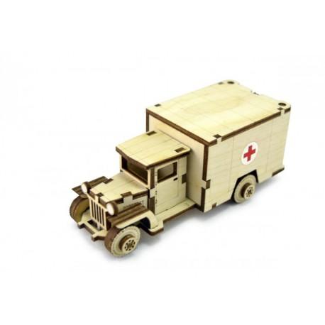 3D Конструктор деревянный Советский грузовик ЗИС-5м LEMMO