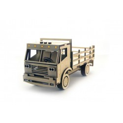 3D Конструктор деревянный Грузовик с кузовом LEMMO