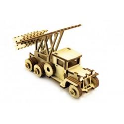 3D Конструктор деревянный Советский грузовик Катюша LEMMO