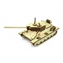 3D Конструктор деревянный Танк Т-34 маленький LEMMO