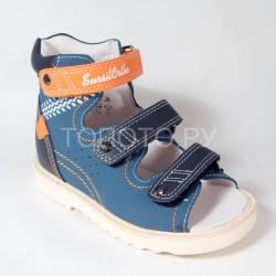 Сандалии ортопедические Сурсил Орто синие с оранжевым
