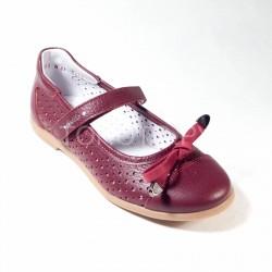Туфли школьные Тотто 30001/3 бордовые