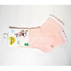 Носки для девочки эффект ажура 8С953 персиковые