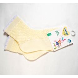 Носки для девочки эффект ажура 8С953 желтые