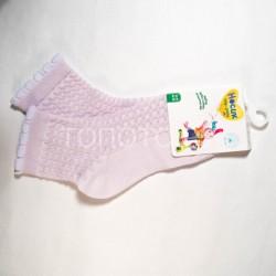Носки для девочки эффект ажура 8С953 сирень