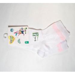 Носки для девочки ажурные бамбук белые