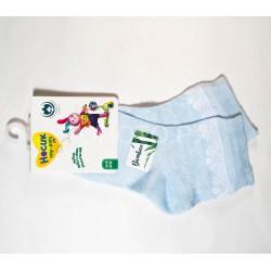 Носки для девочки ажурные бамбук голубые