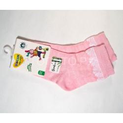 Носки для девочки ажурные бамбук розовый