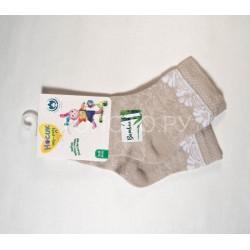 Носки для девочки ажурные бамбук бежевые