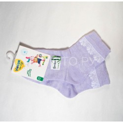 Носки для девочки ажурные бамбук сирень
