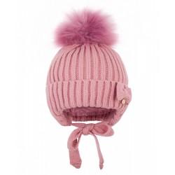 Шапка зимняя Чудо-Кроха cz-170 темно-розовый