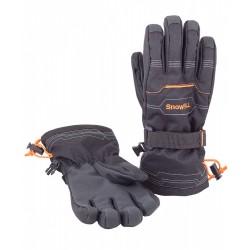 Перчатки зимние Чудо-Кроха G-107 черный-оранжевый