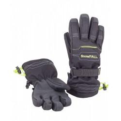 Перчатки зимние Чудо-Кроха G-107 черный-зеленый