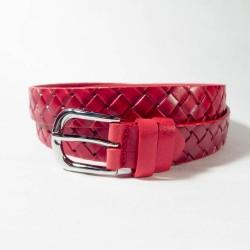 Ремень Glamour. Цвет-красный, перекрестный. 2,5