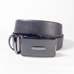 Ремень Maroon Belts. Цвет-черный. Автопряжка-элемент в центре. 3,5