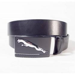 Ремень Maroon belts. Зажим с ягуаром. Черный. 3,5