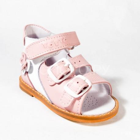 Сандалии на первый шаг Тотто 022 розовый/белый