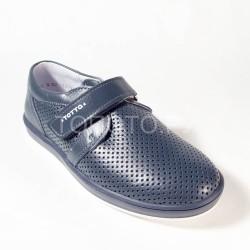Туфли школьные Тотто 30024 синие