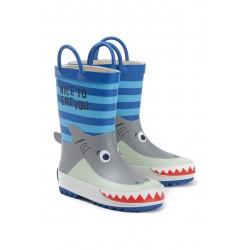 Резиновые сапоги Oldos Акула серый/голубой