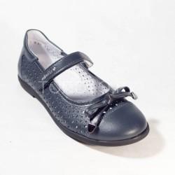 Туфли школьные Тотто 30001 синие (черная подошва)