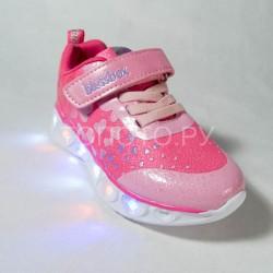 Кроссовки светящиеся Blessbox малиновые