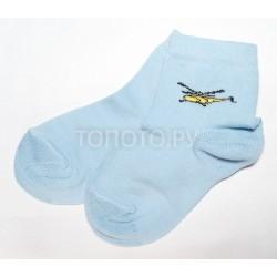 Носки детские голубые с вертолетиком