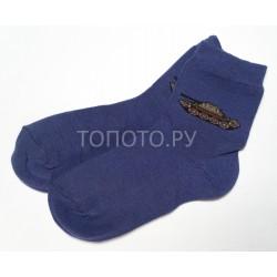 Носки детские темно-синие с танчиком