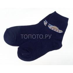 Носки детские сине-черные с танчиком