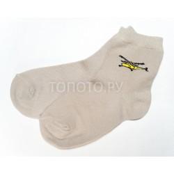 Носки детские кремовые с вертолетиком