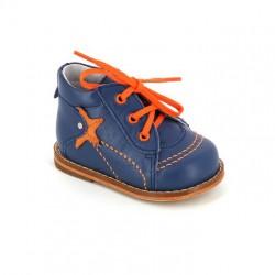 Ботинки на первый шаг Тотто 037 джинс/оранжевый