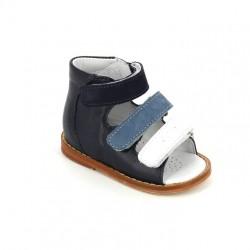 Сандалии на первый шаг Тотто 050 синие с белым