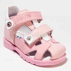Сандали детские закрытые Тотто 064 розовые